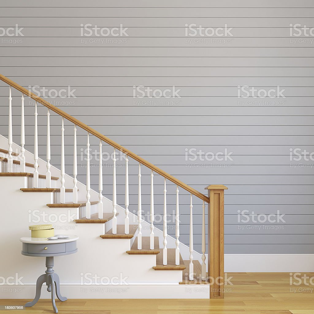 Stairway in modern house. stock photo