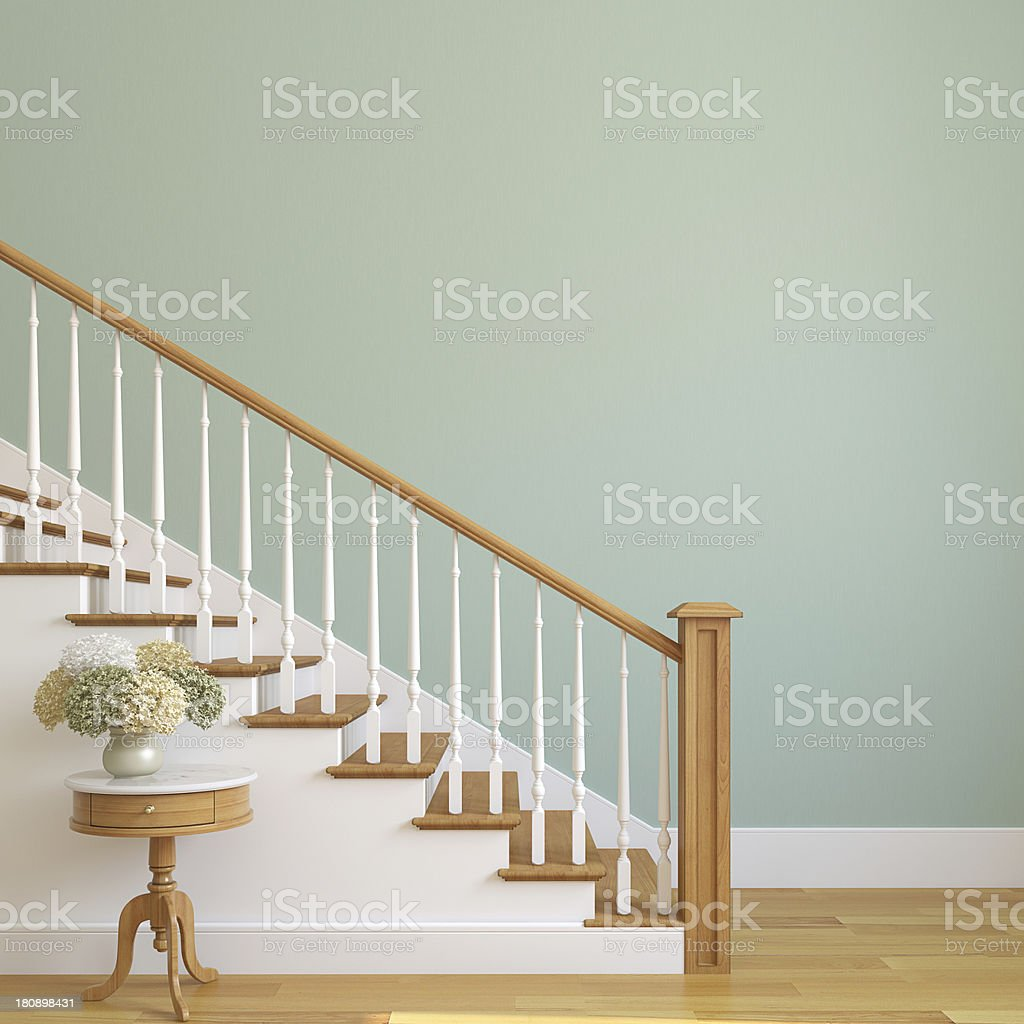 Stairway in the modern house. stock photo