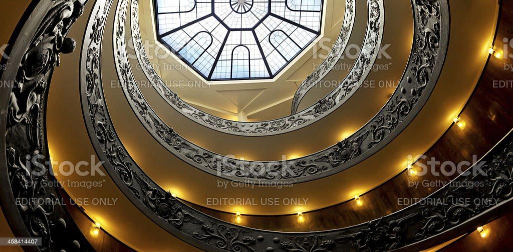 Stairway in Vatican Museum stock photo
