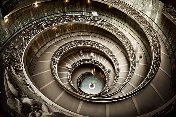 Treppe im Vatikan Museum – Foto