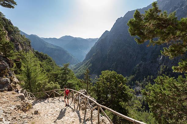Treppe in Samaria-Schlucht, Kreta – Foto