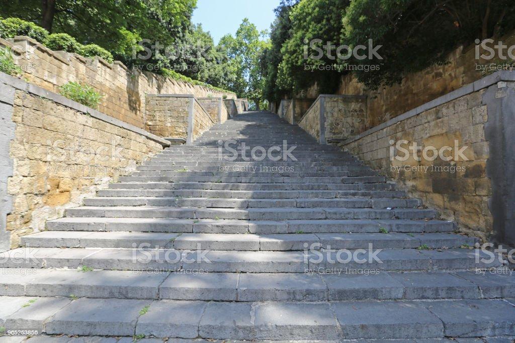 Stairway Naples royalty-free stock photo