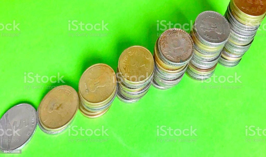 Stairway of the savings stock photo