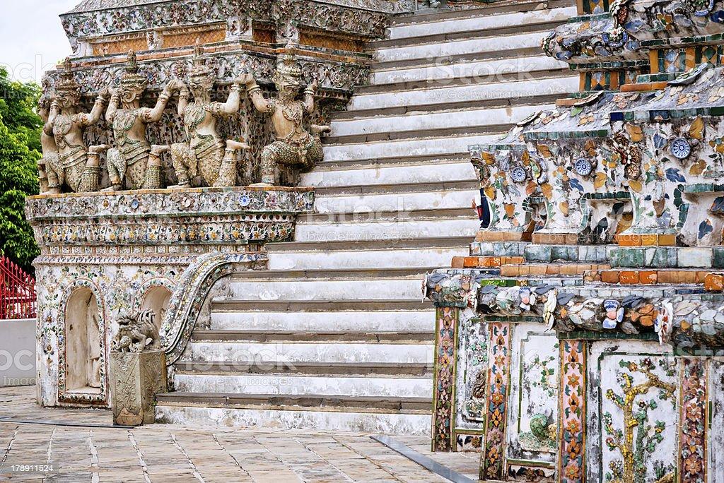 Stairway of Wat Arun - Bangkok, Thailand royalty-free stock photo