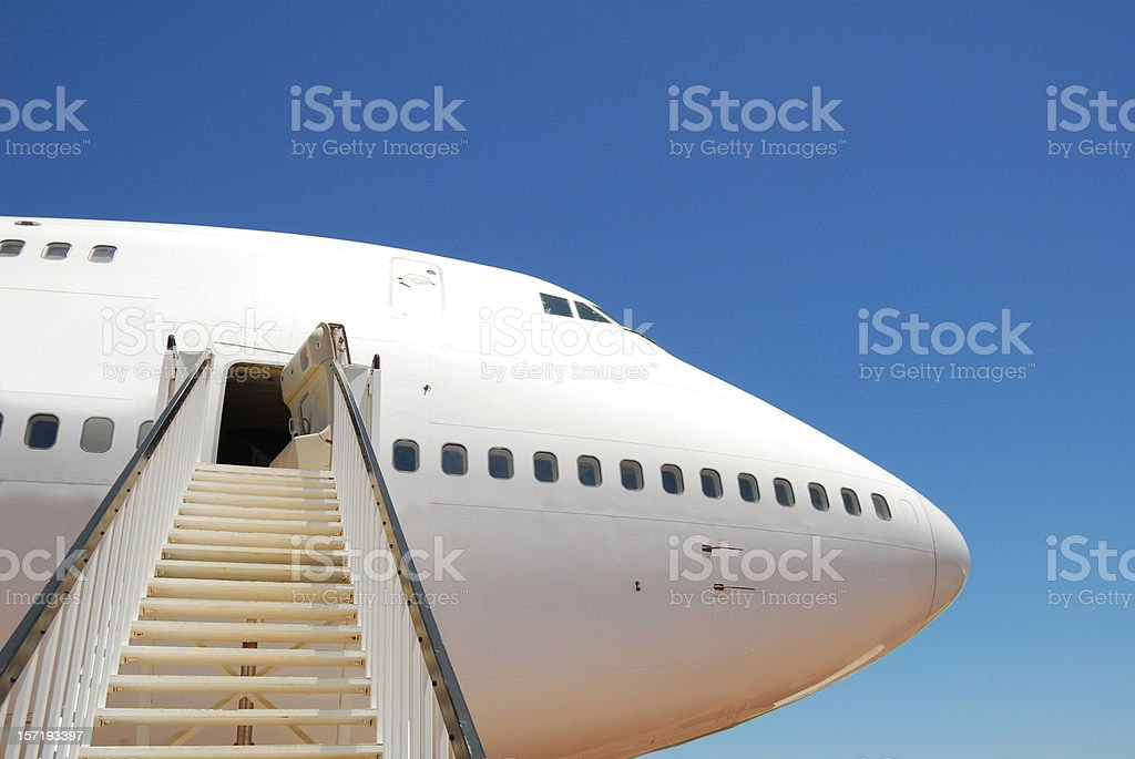 Stairway to a Jet royalty-free stock photo
