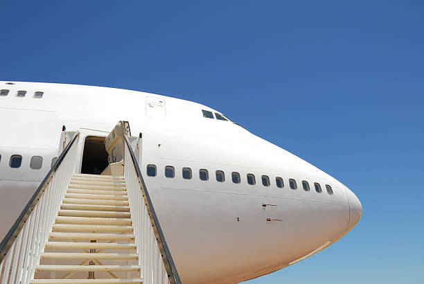 Stairway to a Jet stock photo