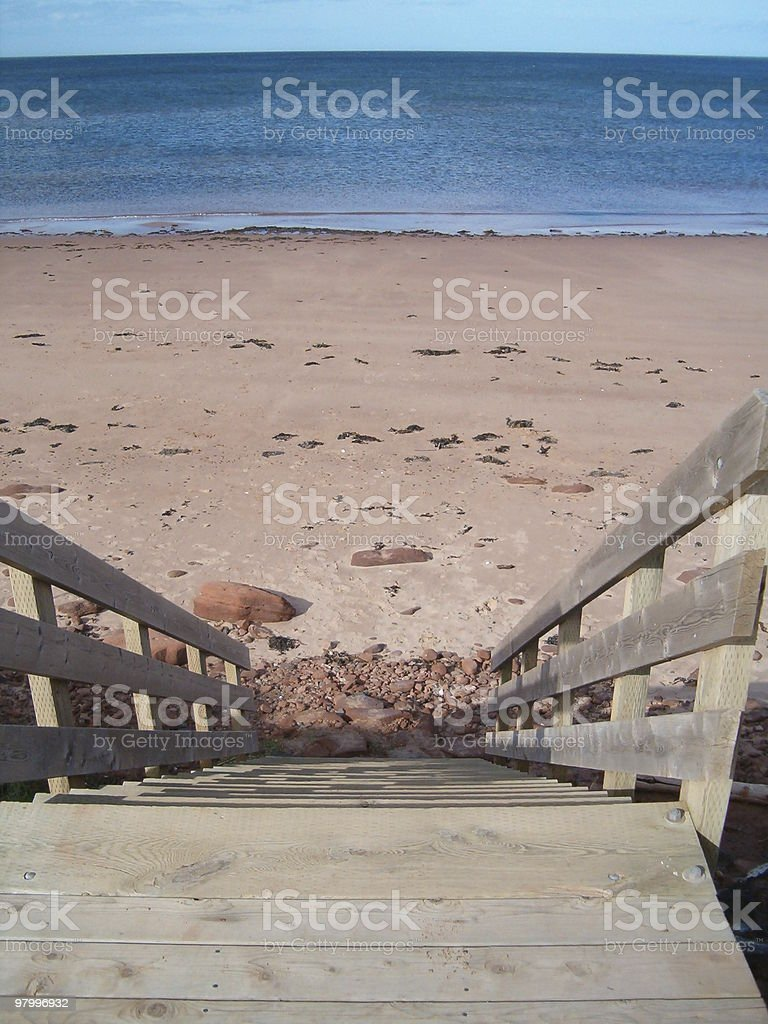 stairway to beach royalty-free stock photo