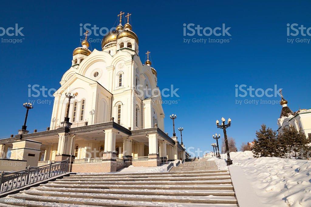 Treppe zur Kirche – Foto