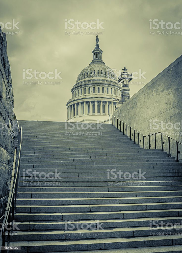 Stairway to Corruption stock photo