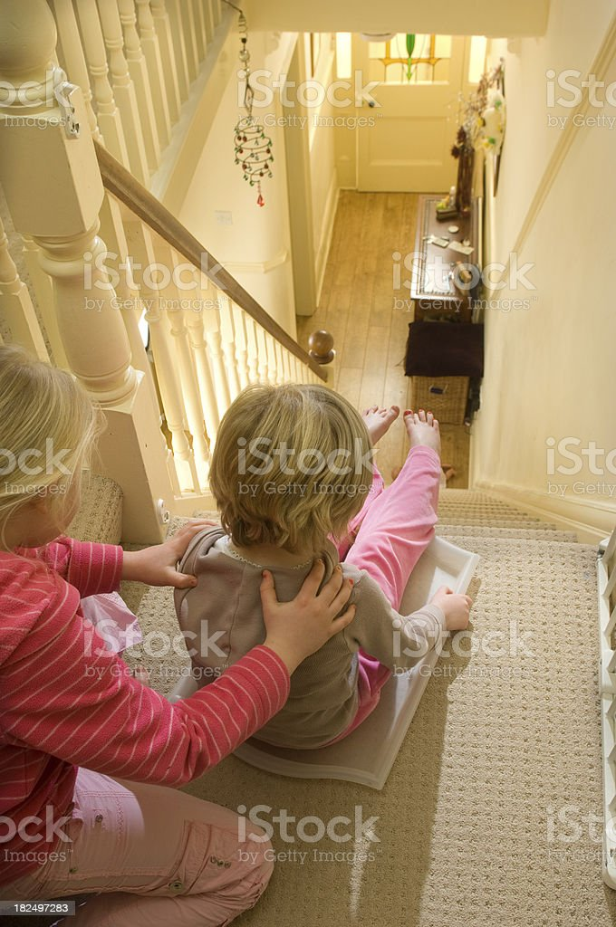stairway to danger royalty-free stock photo