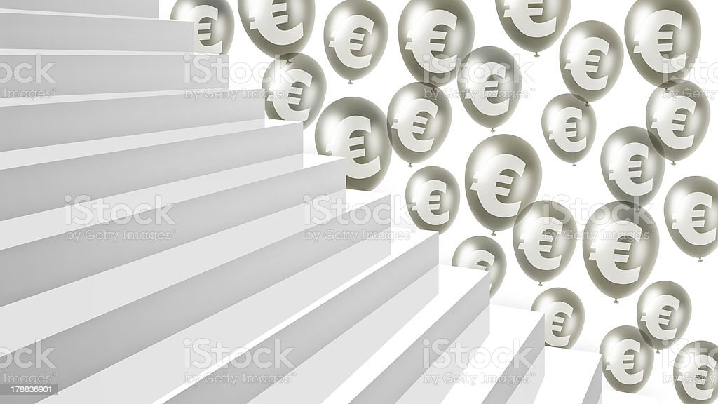 stairway to financial success royalty-free stock photo