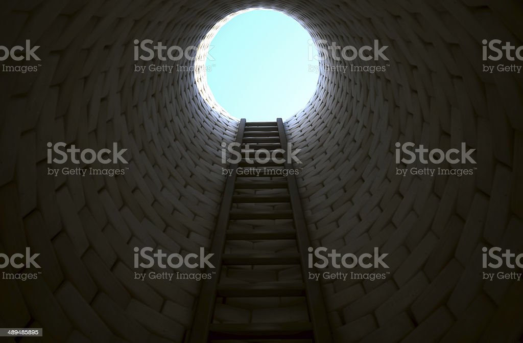 Stairway to freedom stock photo