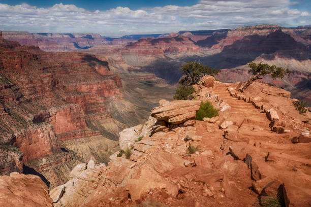 stairway to heaven in the Grand Canyon stock photo