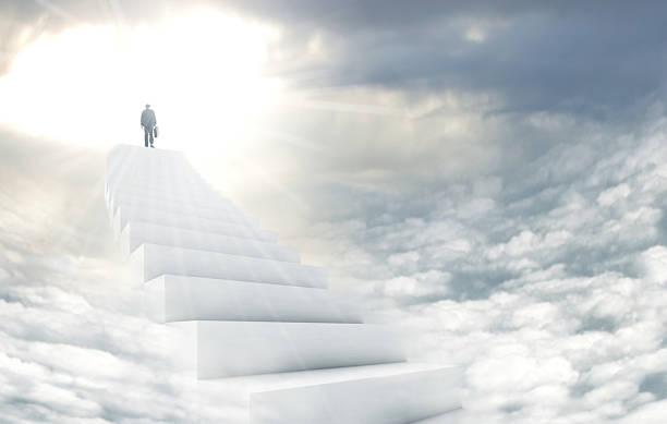 stairway to heaven - engelportal stock-fotos und bilder