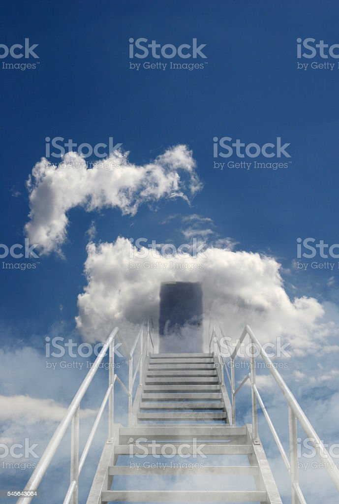 Stairway to heaven stock photo
