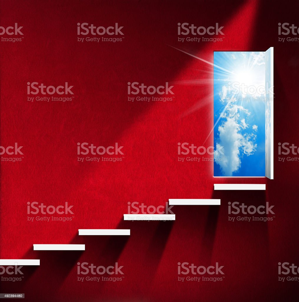 Stairway to Heaven - Red Room stock photo