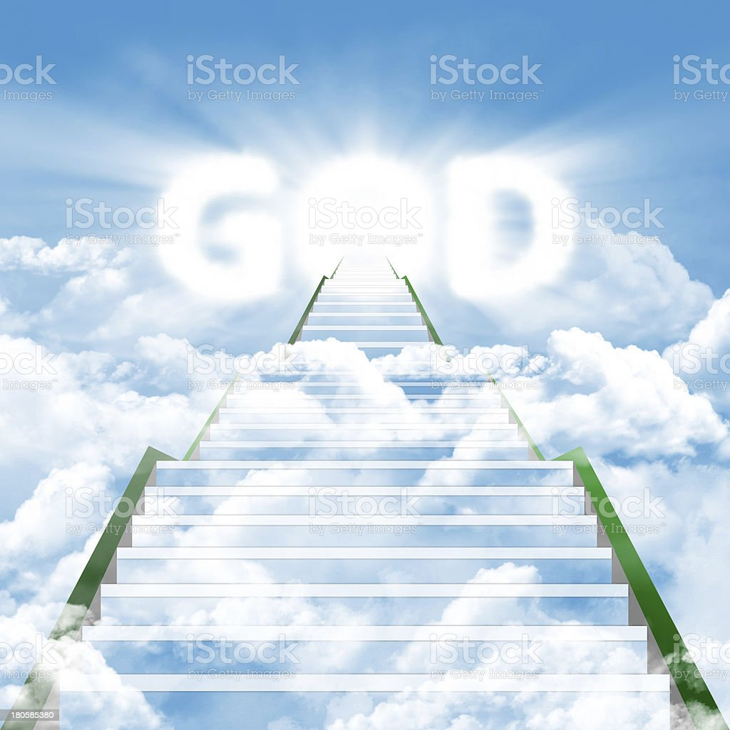 Stairway to meet by the GOD royalty-free stock photo