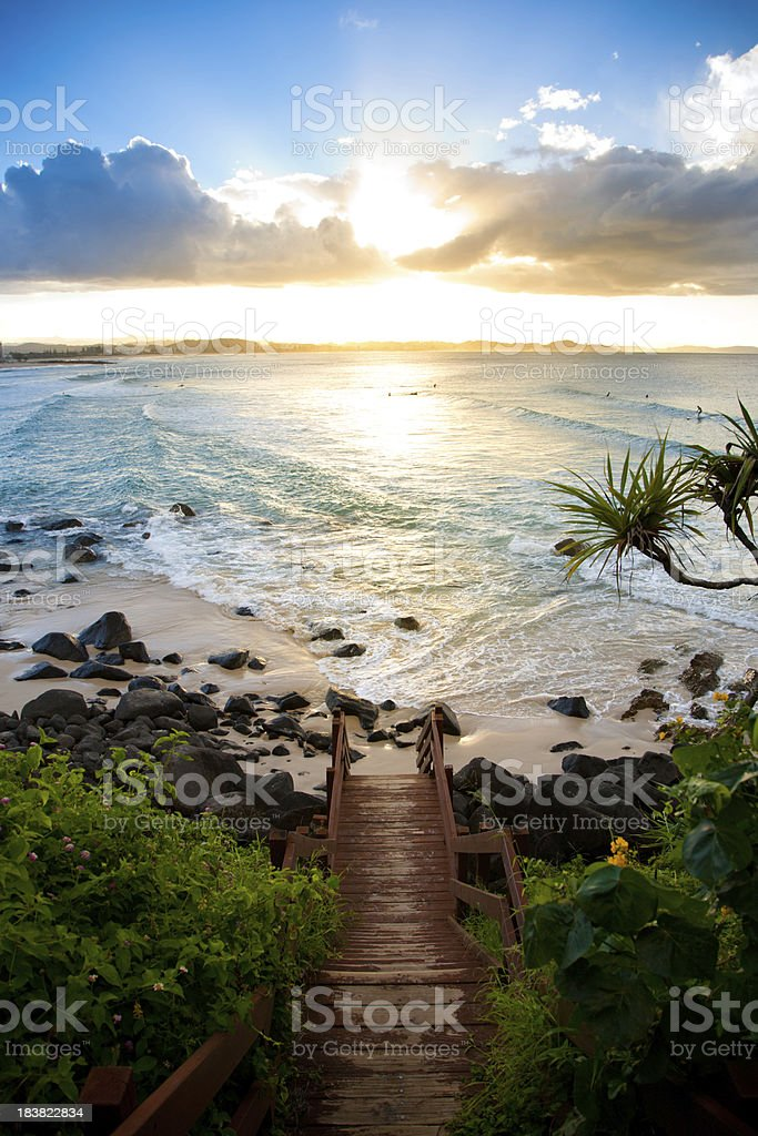 Stairway to Paradise stock photo