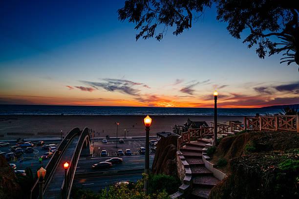 Stairway to Sunset stock photo