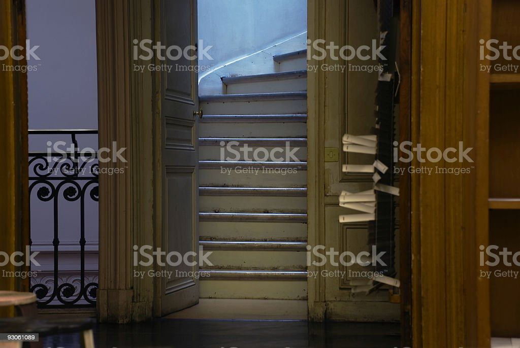 Stairway to the attic royalty-free stock photo