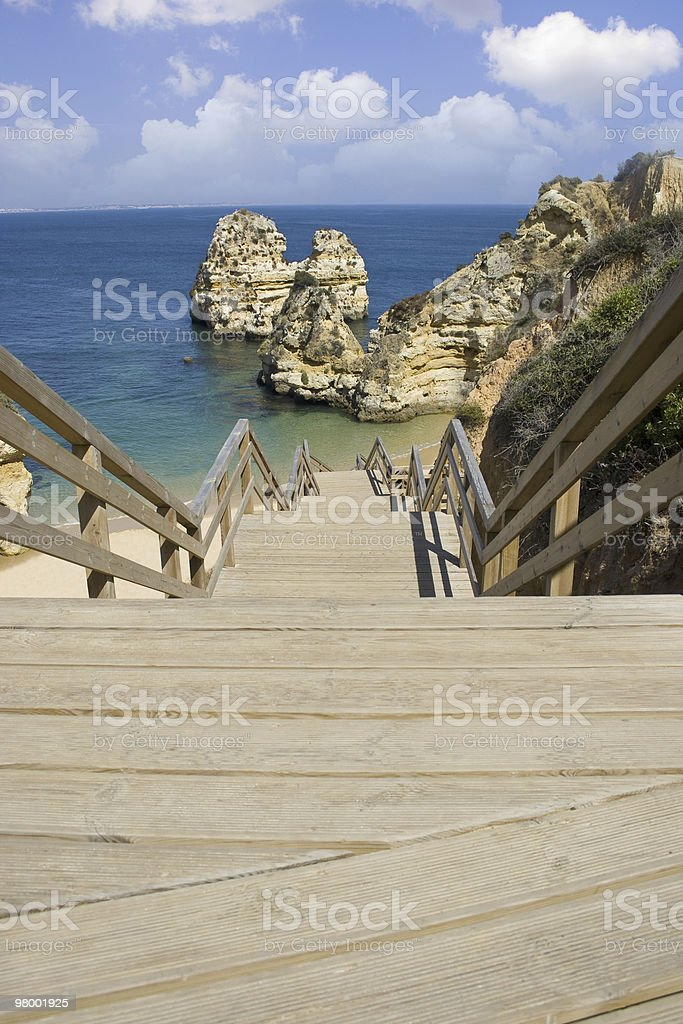 Stairway to the beach royalty-free stock photo