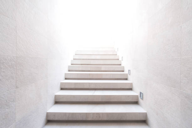 stairway to the light - staircase stock photos and pictures