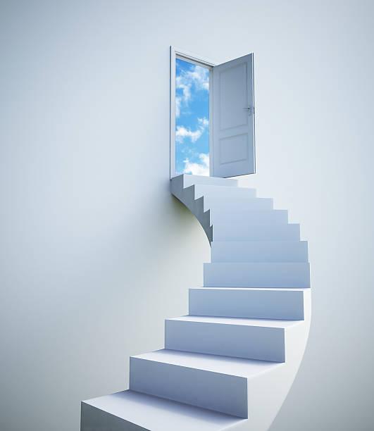 Stairway to the sky stock photo