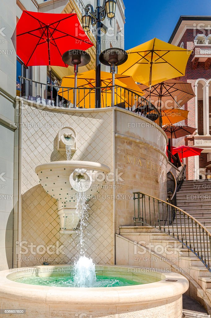Stairway to Two Rodeo Drive in Beverly Hills, California stock photo