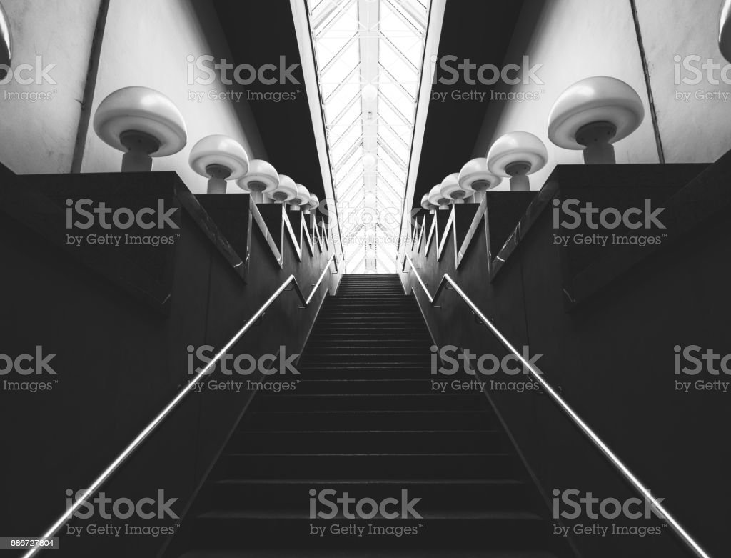 Stairway Up. One More Step. stock photo