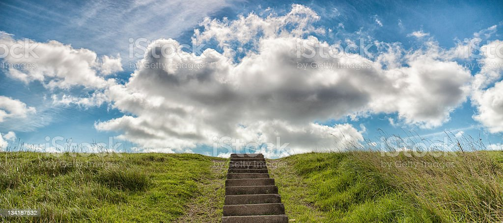 Stairways to Sky and Clouds royalty-free stock photo