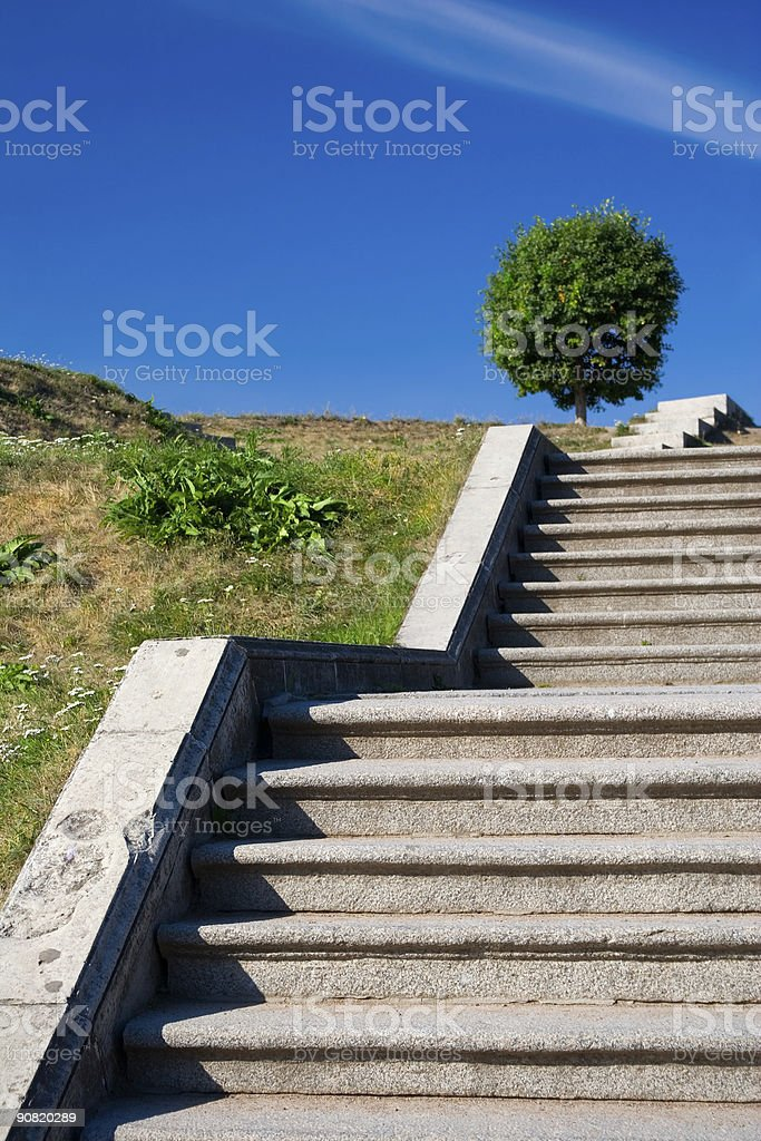 Stairways to the sky royalty-free stock photo