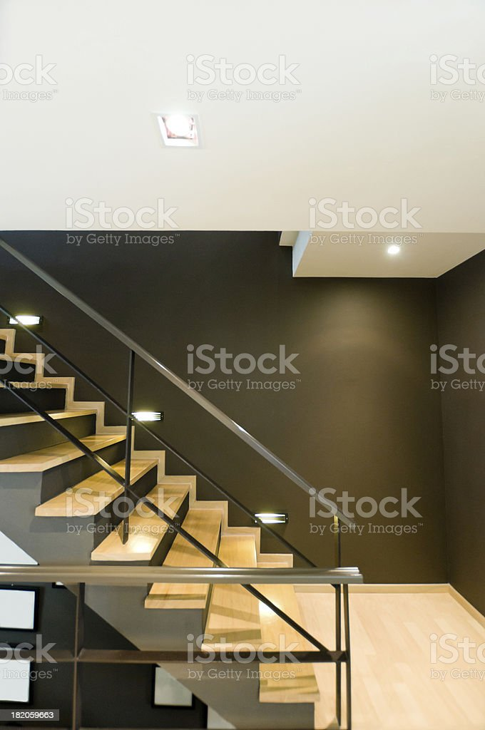 Stairwell in a modern building stock photo