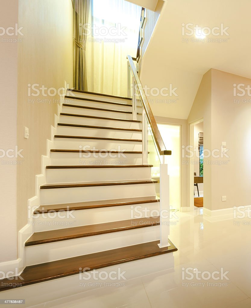 Stairwell in a modern building royalty-free stock photo