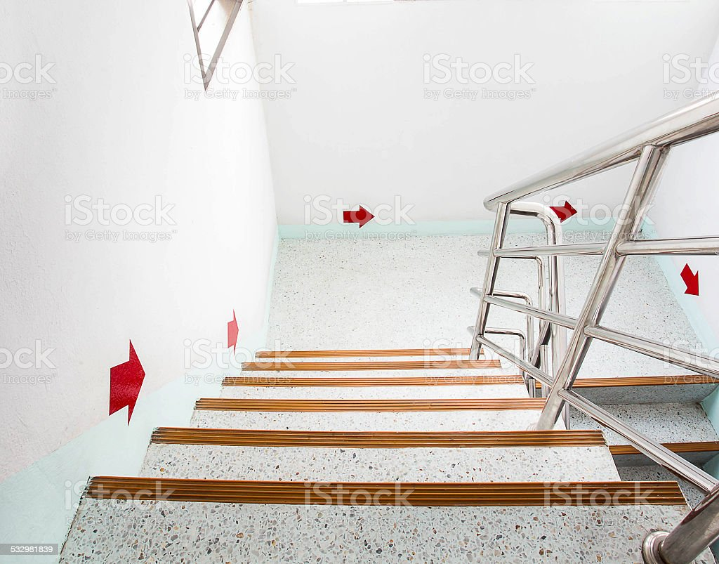 stairwell stock photo