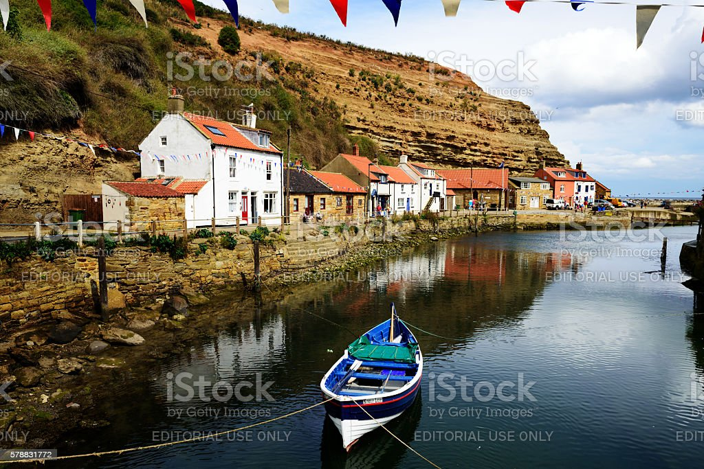 Staithes Beck, North Yorkshire, England stock photo