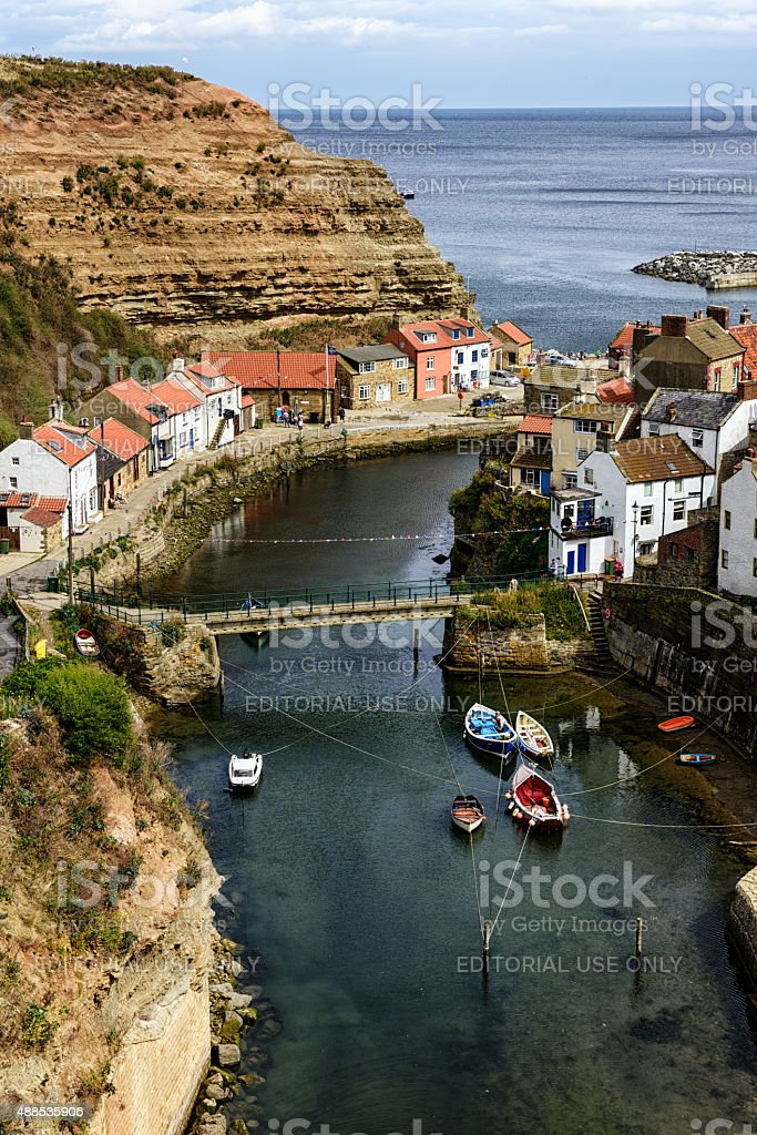 Staithes, fishing village in the North Yorkshire stock photo