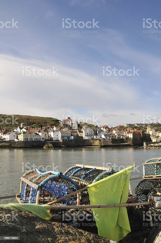 Staithes Harbour. stock photo