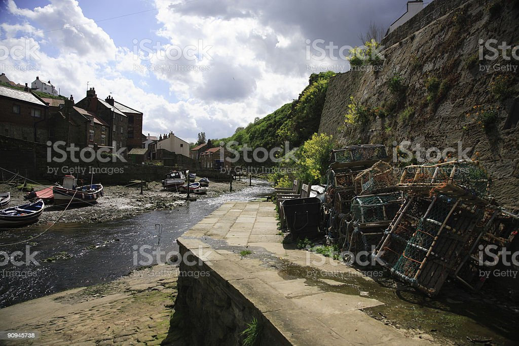 Staithes Harbour stock photo