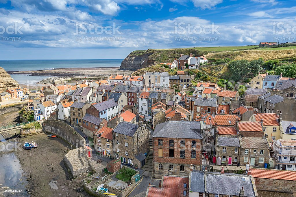 Staithes in north east Yorkshire stock photo