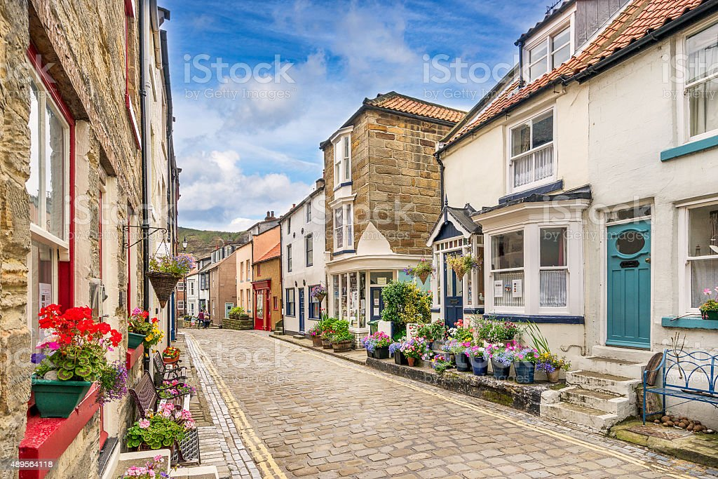 Staithes in North Yorkshire stock photo
