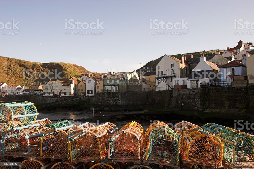 staithes lobster pots royalty-free stock photo