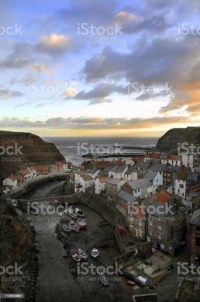 Staithes, North Yorkshire. stock photo