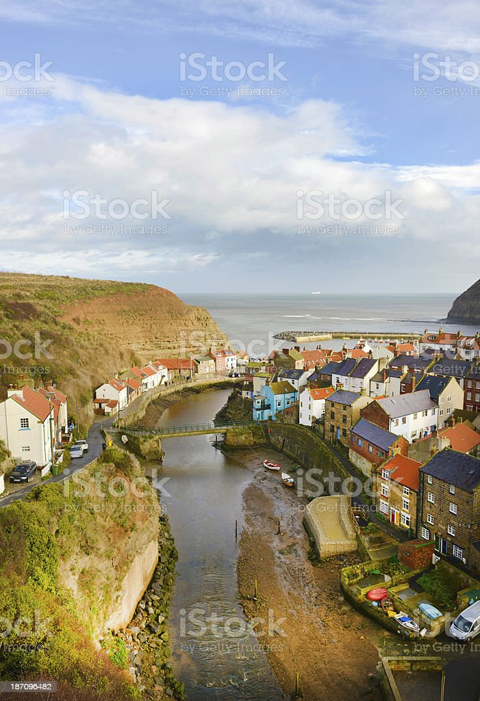 Staithes, North Yorkshire stock photo