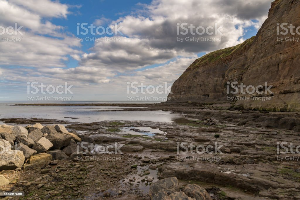 Staithes, North Yorkshire, UK stock photo