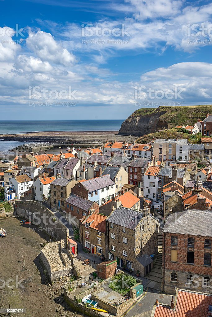 Staithes on the North East coast of Yorkshire stock photo