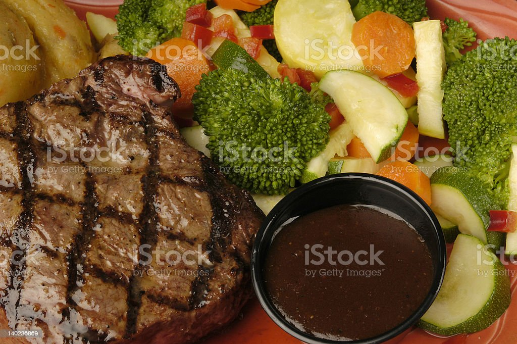 stake with vegetables royalty-free stock photo