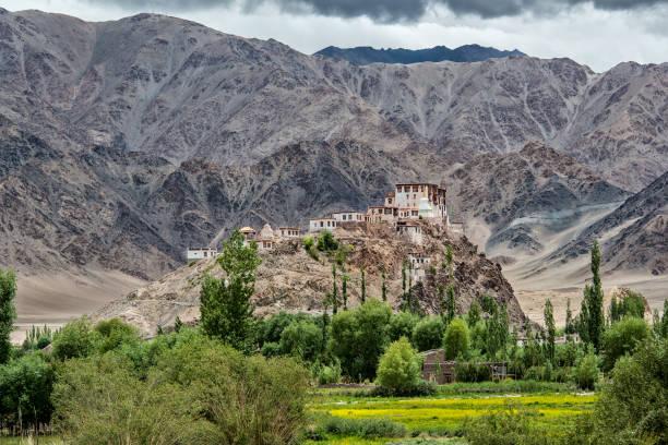 stakna gompa (kloster) in ladakh, nordindien - klosterurlaub stock-fotos und bilder