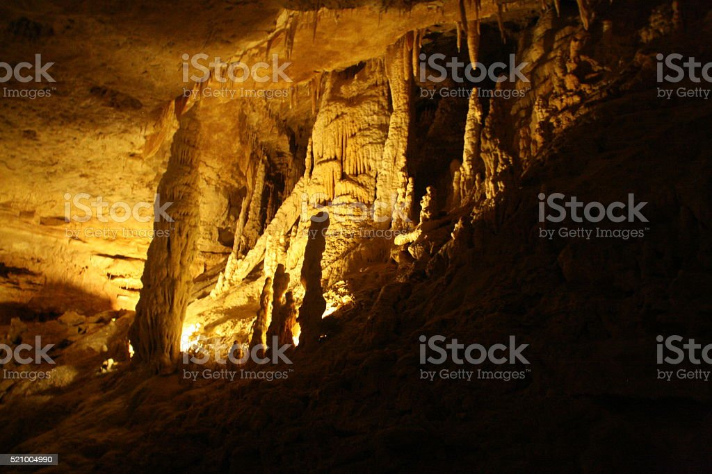 Stalactites & Stalagmites stock photo