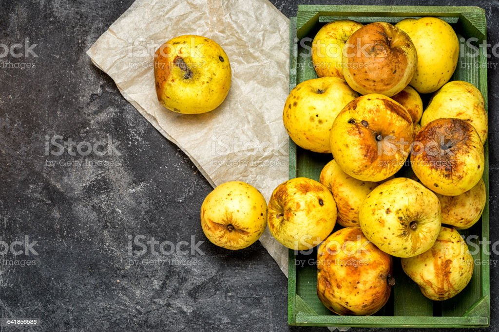 stale apple crop stock photo