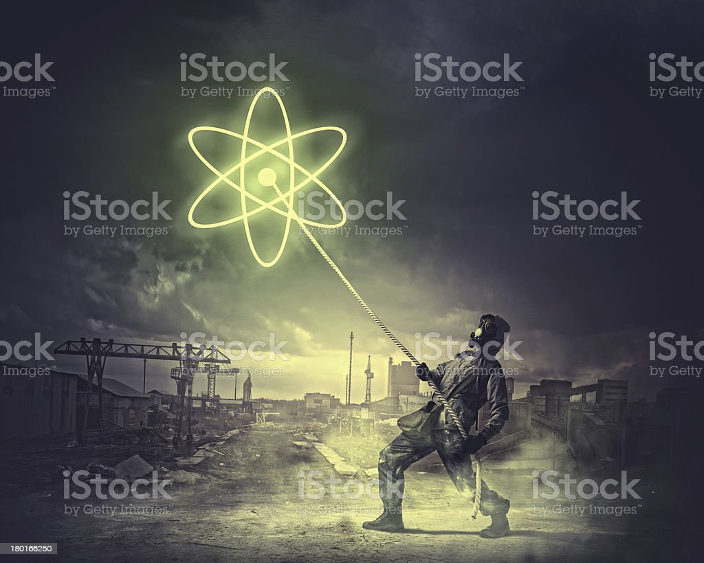 Stalker pulling rope royalty-free stock photo